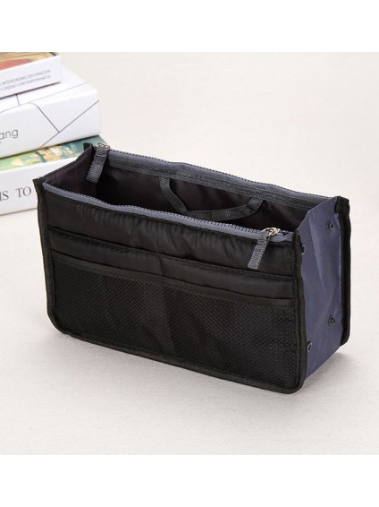 CBD Thick and Large Capacity Travel Double Zipper Wash Bag(Black)