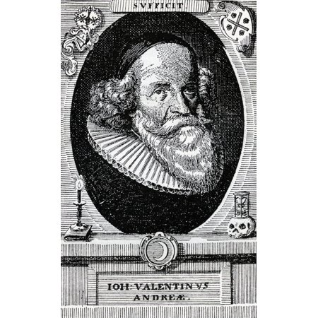 John Valentine Andrea 1586 To 1684 German Theologian And Monk From The Book The Freemason By Eugen Lennhoff Published 1932 Canvas Art - Ken Welsh  Design Pics (22 x 36)