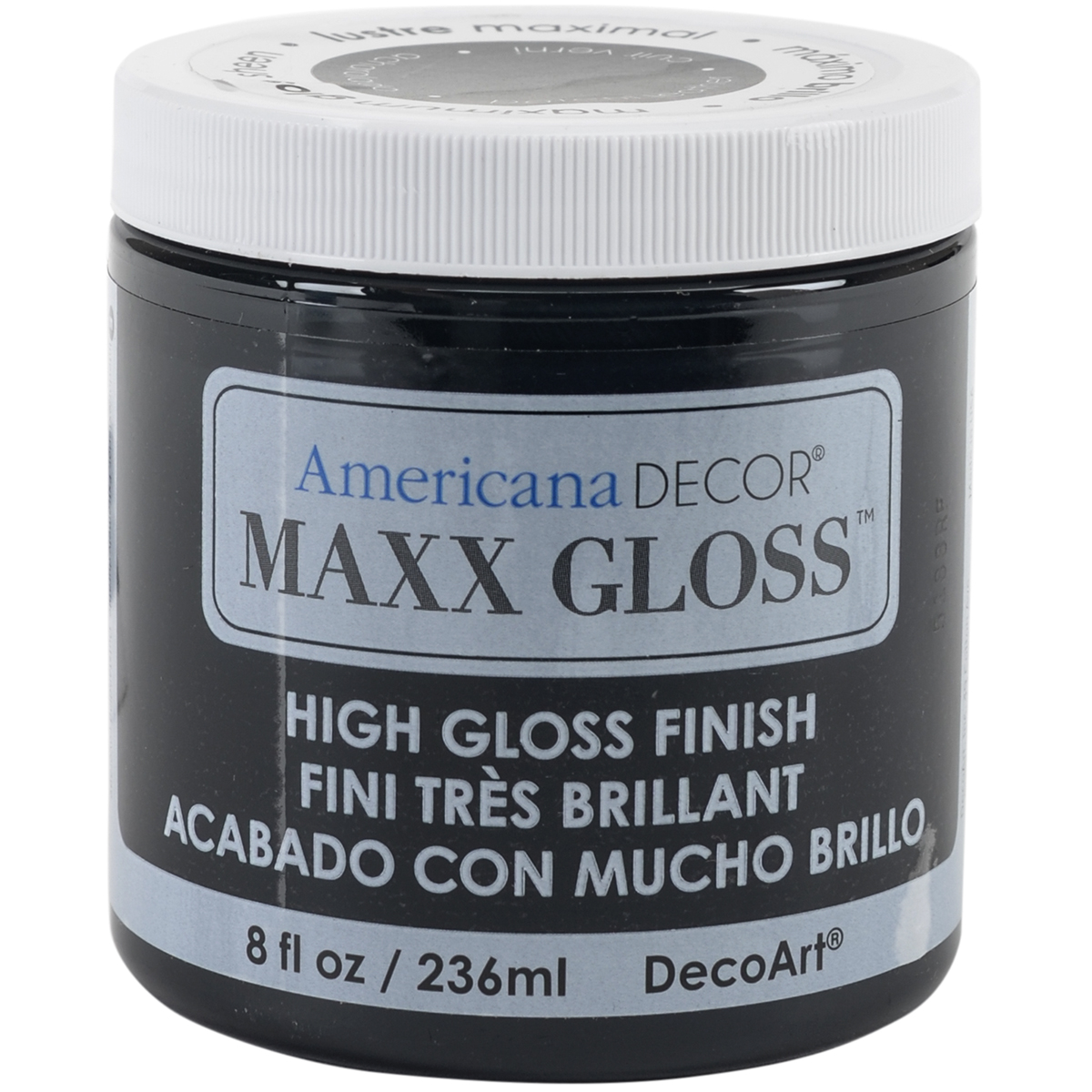 Maxx Gloss Acrylic Paint 8oz-Patent Leather