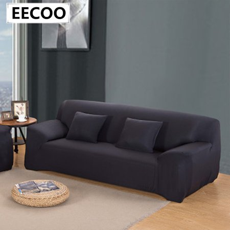 Settee Sofa Cover (Sofa Couch Cover Easy Fit Stretch Covers Elastic Fabric Settee Protector Slipcover Washable Solid)