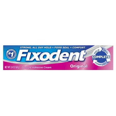 (3 pack) Fixodent Complete Original Denture Adhesive Cream, 2.4 oz