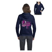 Cancer Awareness Hoodie Fight Breast Cancer Support Cancer Awareness Womens Sweaters Zip Up