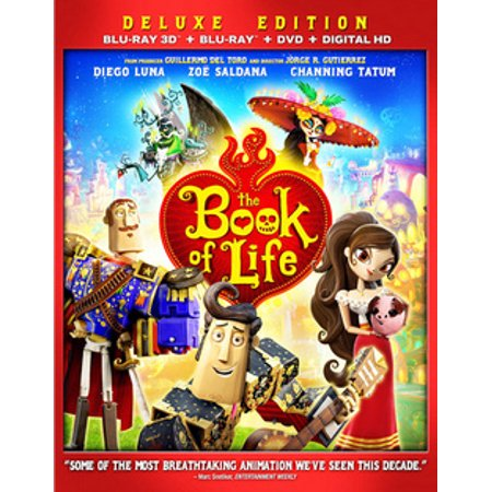 The Book of Life (Blu-ray + Blu-ray + DVD) (The Book Of Life Movie)