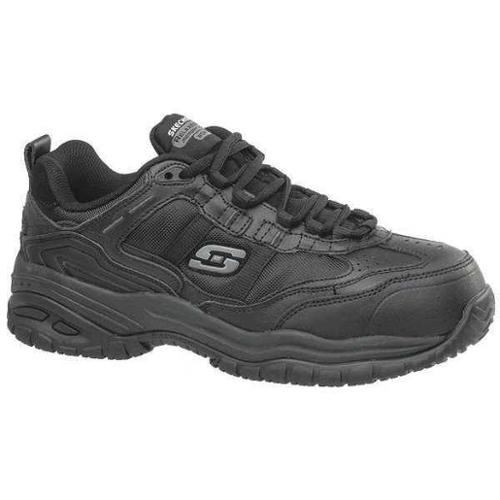 Skechers Size 7-1/2 Composite Toe Athletic Style Work Shoes, Men's, Black, EW, 77013EW -BLK 7.5
