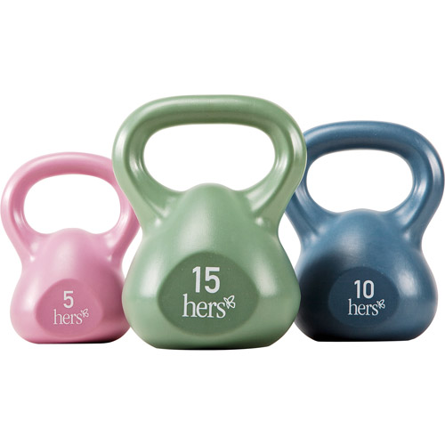Hers Vinyl 30-lb. Kettle Weight Set: VKBS-30