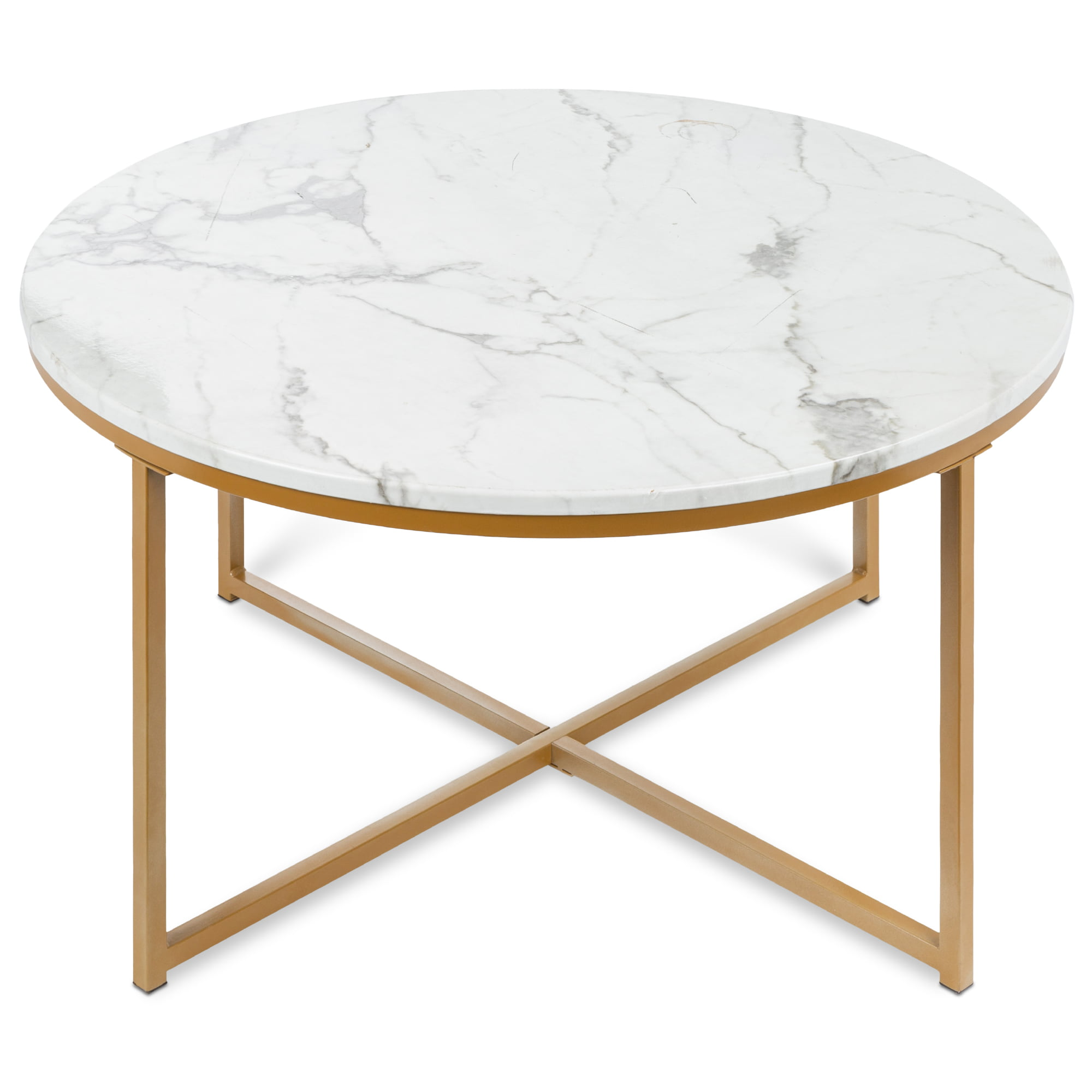 Picture of: Round Coffee Table 18×22 Inch White Desk Side Table Coffee Table Mid Century Modern Rustic Wooden Table With 3 Legs Pillars White Night Stands For Bedrooms Bedside Table Home Kitchen Home