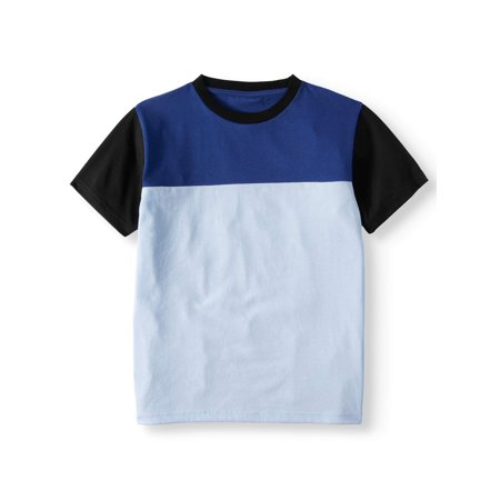 Short Sleeve Color Block Raglan Tee Shirt (Big Boys) Color Block Raglan Tee