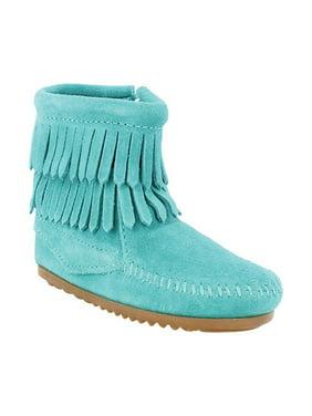 Girls' Minnetonka Double Fringe Side Zip Boot