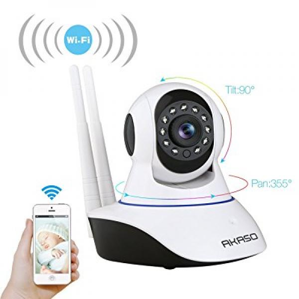 AKASO Wireless Wifi IP Security Camera 720P Indoor Home S...