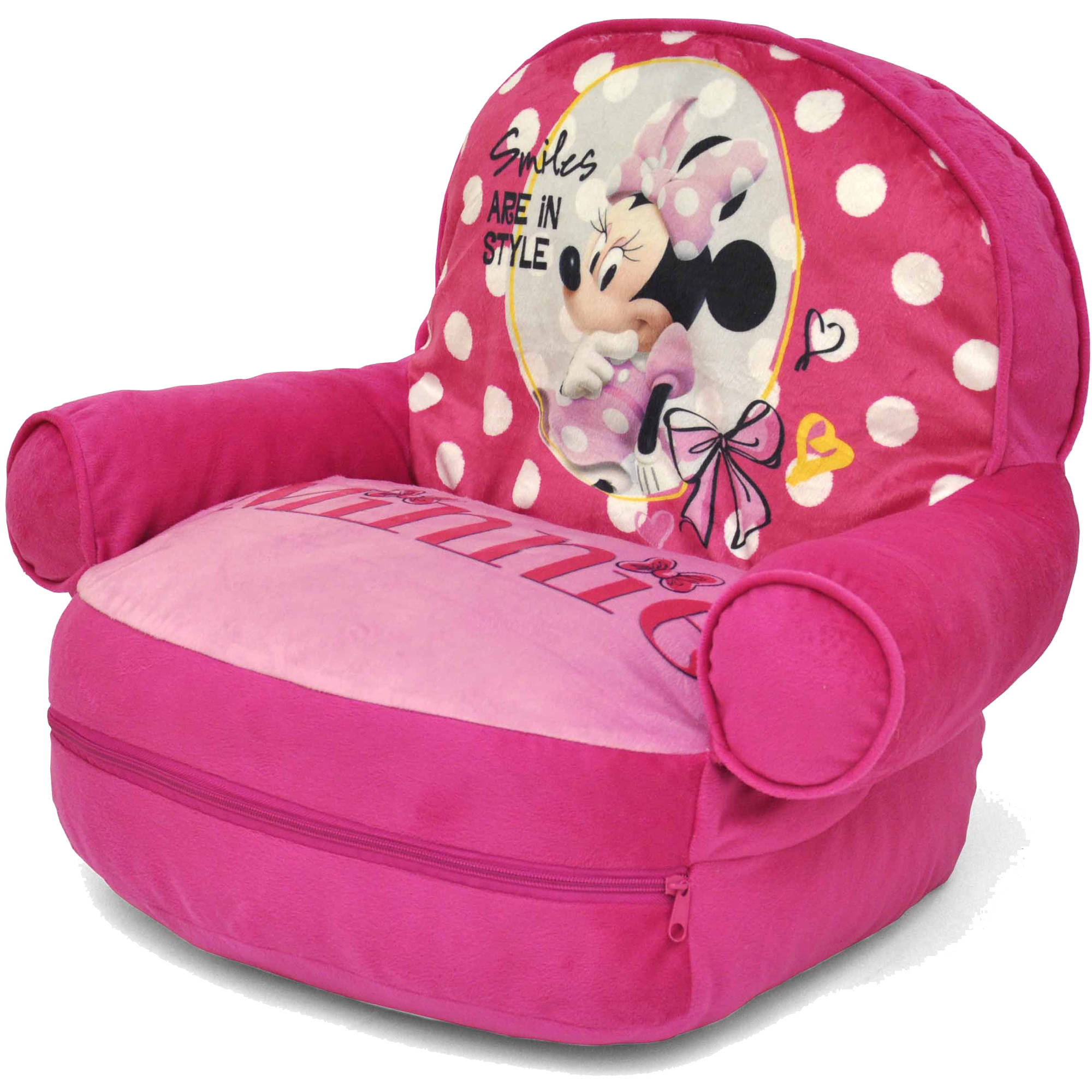 Disney Minnie Mouse Bean Bag With BONUS Slumber Bag   Walmart.com
