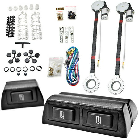 Automatic Switch - Biltek FULL COMPLETE CAR TRUCK 2 WINDOW AUTOMATIC POWER KIT WITH 3 SWITCHES KIT