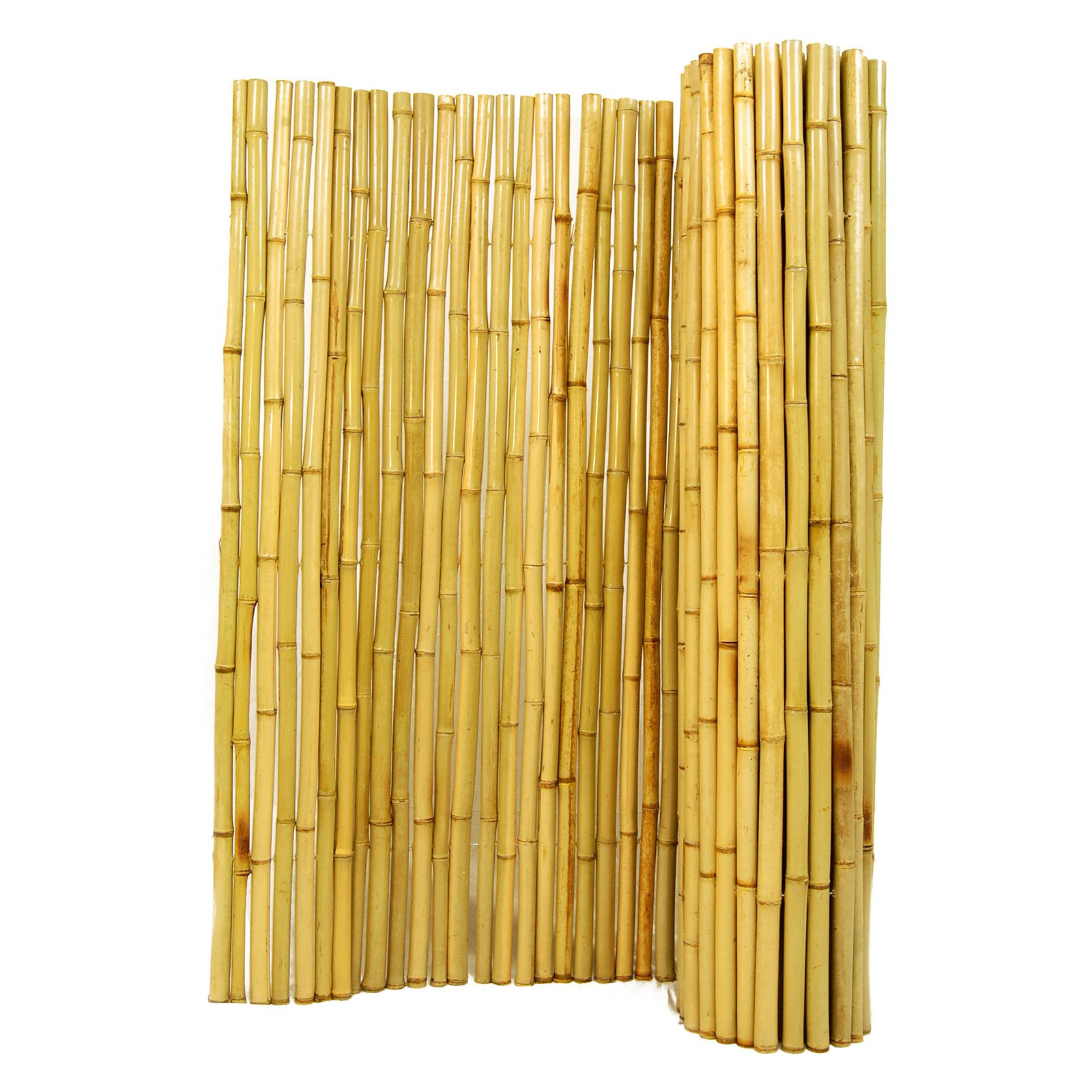 Forever Bamboo 1 in. Natural Rolled Bamboo Fence by
