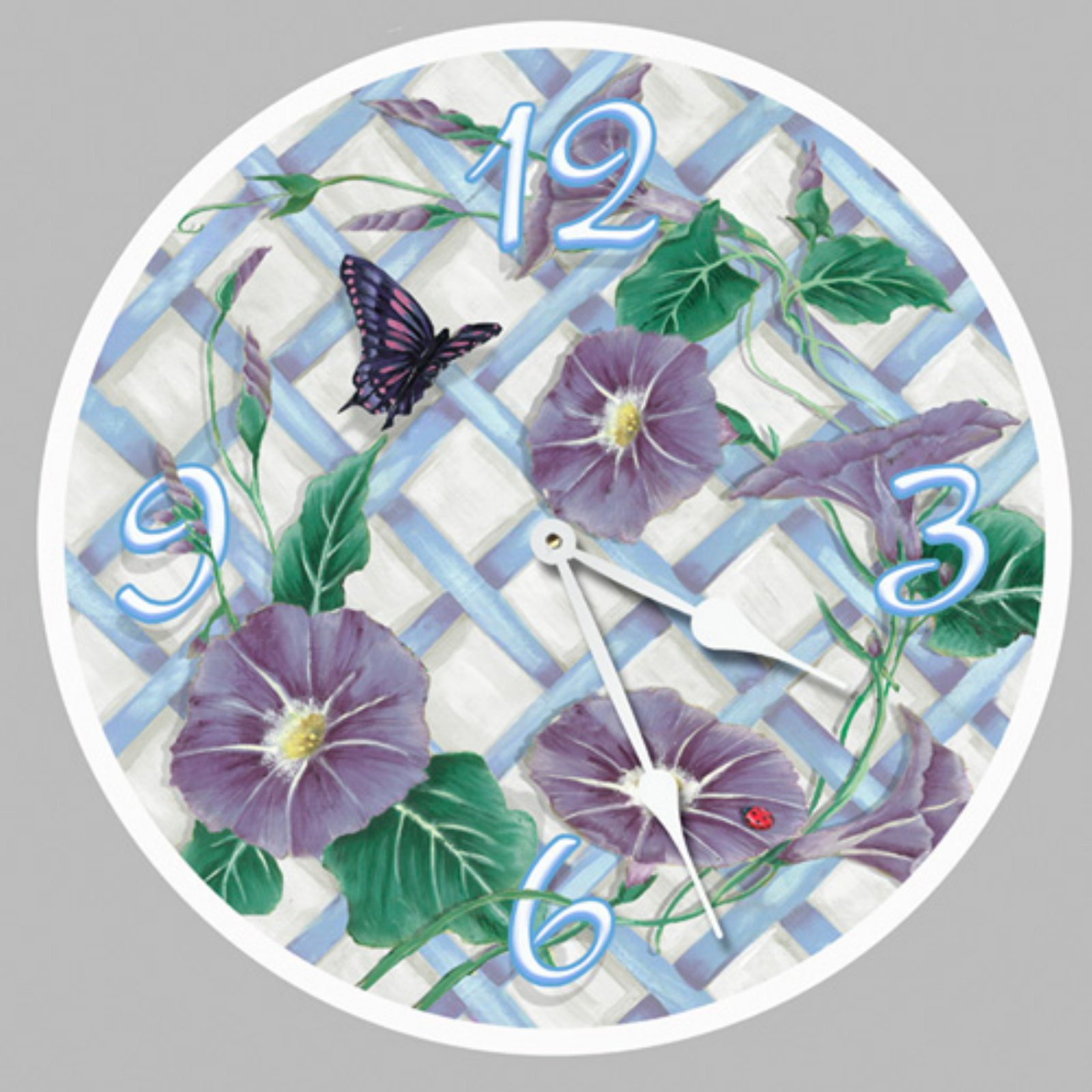Lexington Studios Morning Glories Wall Clock