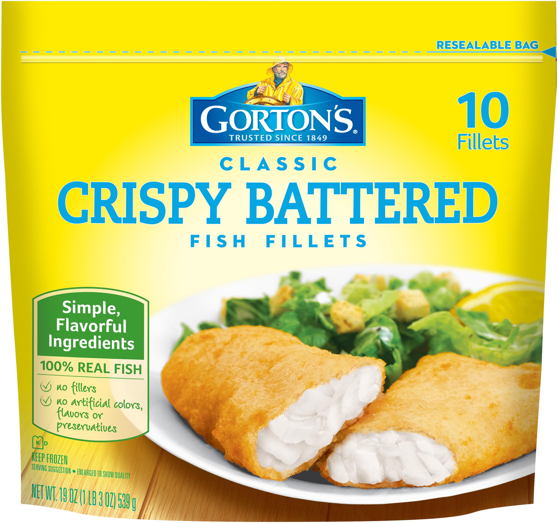 Gorton's® Classic Crispy Battered Fish Fillets 10 ct Stand-Up Bag