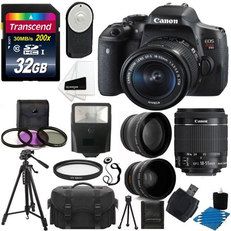 Canon EOS Rebel T6i DSLR Camera 18-55mm + 24GB Deluxe Accessory Kit (Camera Canon T3i Rebel)