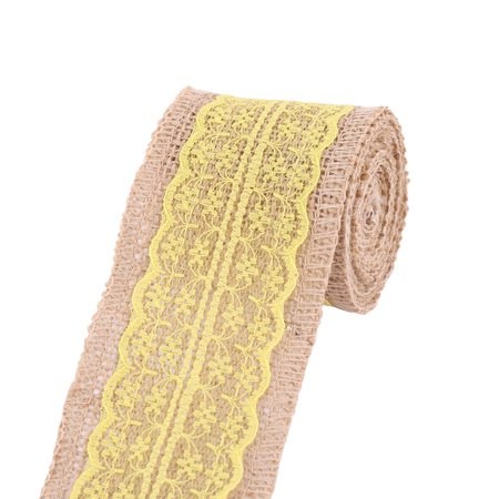 Wedding Party Linen Chair Cake Box Decor DIY Sewing Ribbon Roll Yellow 2.3 Yards - image 4 of 4