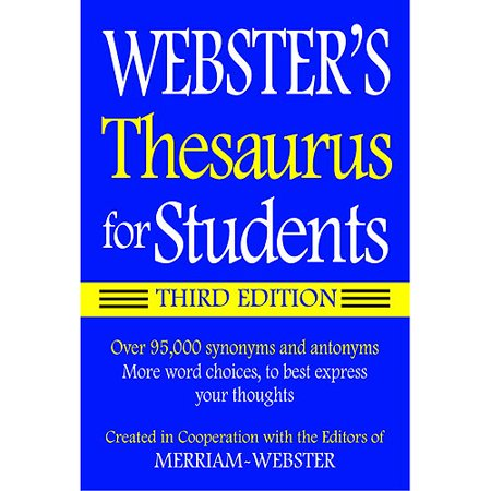 Websters Federal Street Press Book Thesaurus For Student 3Rd Edition Paperback Book  Grade 6 And Up