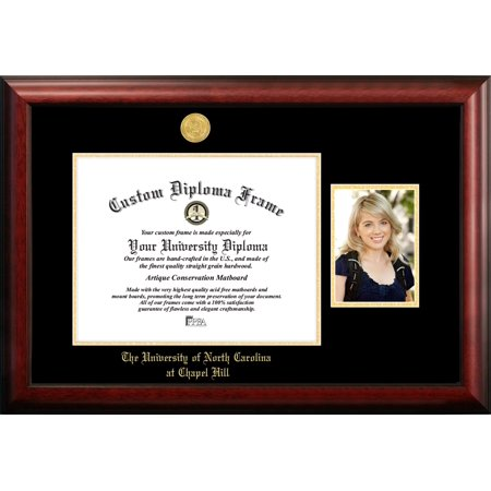 University of North Carolina, Chapel Hill 14w x 11.5h Gold Embossed Diploma Frame with 5 x7 Portrait