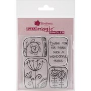 """Woodware Clear Stamps 3.5""""X3.5""""-Wonderful Friend"""
