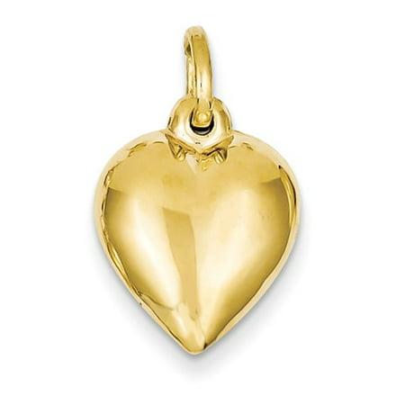 14k yellow gold puffed heart pendant walmart 14k yellow gold puffed heart pendant mozeypictures Choice Image