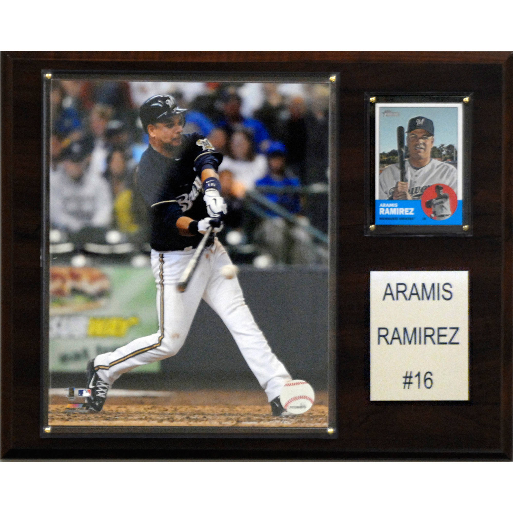 C&I Collectables MLB 12x15 Aramis Ramirez Milwaukee Brewers Player Plaque