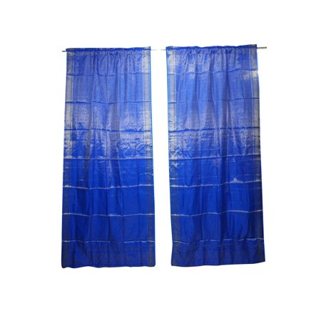 Mogul 2 Indian Window Treatment Curtain Sari Drape Panel Brocade