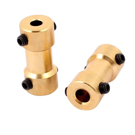 2pcs 4mm to 3.17mm Copper DIY Motor Shaft Coupling Joint for Electric Car Toy
