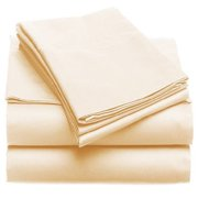 Solid 100GSM Luxury Microfiber Sheet Ivory -