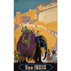 "Trademark Fine Art ""See India"" Giclee Canvas Art"