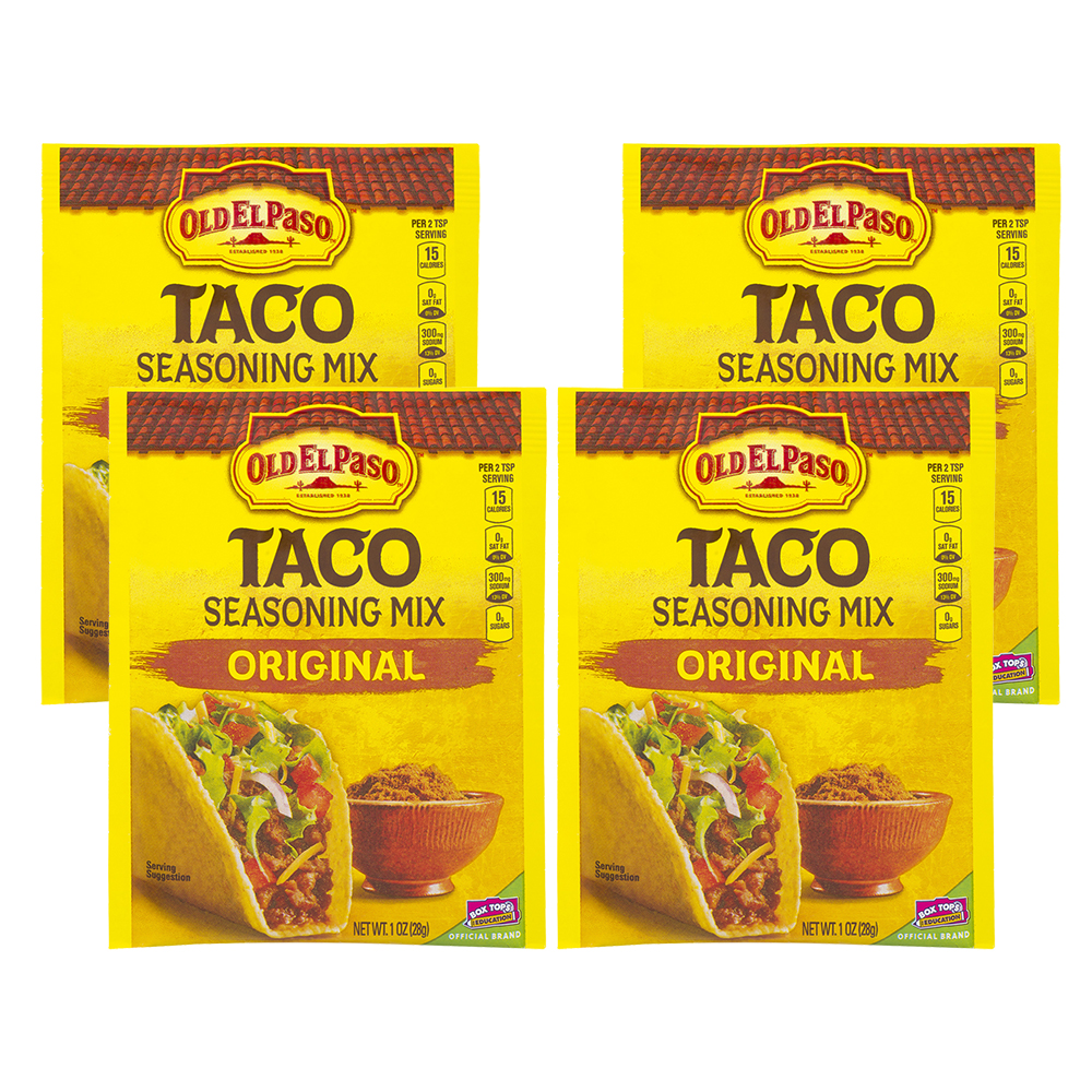 Old El Paso Taco Original Seasoning Mix, 1 Oz (4 Pack)