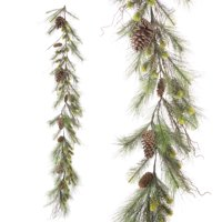 Darice Green Pine Garland with Pinecones, 72 inches