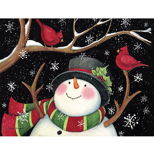 Lang Snowman With Cardsinals Boxed Holiday Cards