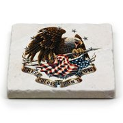 Patriotic These Color Don't Run Single Natural Stone Coaster