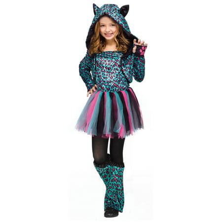 Neon Cheetah big Girls - Big Girl Costumes