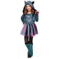 Neon Cheetah big Girls Costume