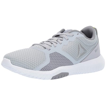6f6fc1a483796 Reebok Mens Flexagon Force Cross Trainer , Adult, Cold Grey/White/Neon Lime