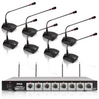 PYLEHome PDWM8300 - Professional Conference Desktop VHF Wireless Microphone System