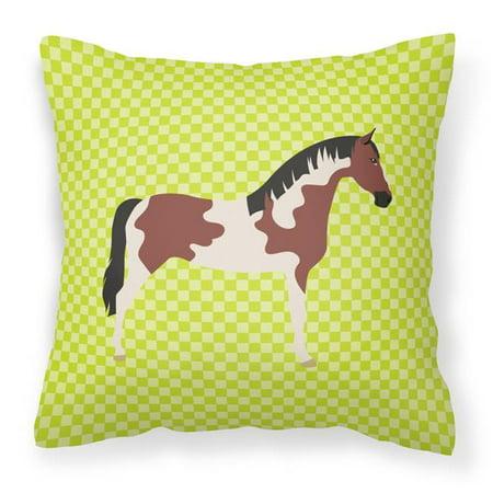 Carolines Treasures BB7733PW1818 Pinto Horse Green Fabric Decorative Pillow, 18 x 18 in. - image 1 de 1