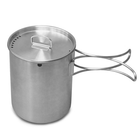 Portable Outdoor Stainless Steel Camping Mug Water Cup with Foldable