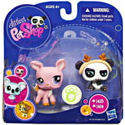 Littlest Pet Shop 2010 Assortment B Series 2 Deer & Panda Bear Figure 2-Pack