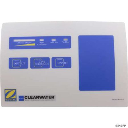 Zodiac Touch Pad Label  Clearwater Lm2 Series Part   W171911