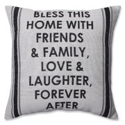 Pillow Perfect Home with Friends and Family Throw Pillow