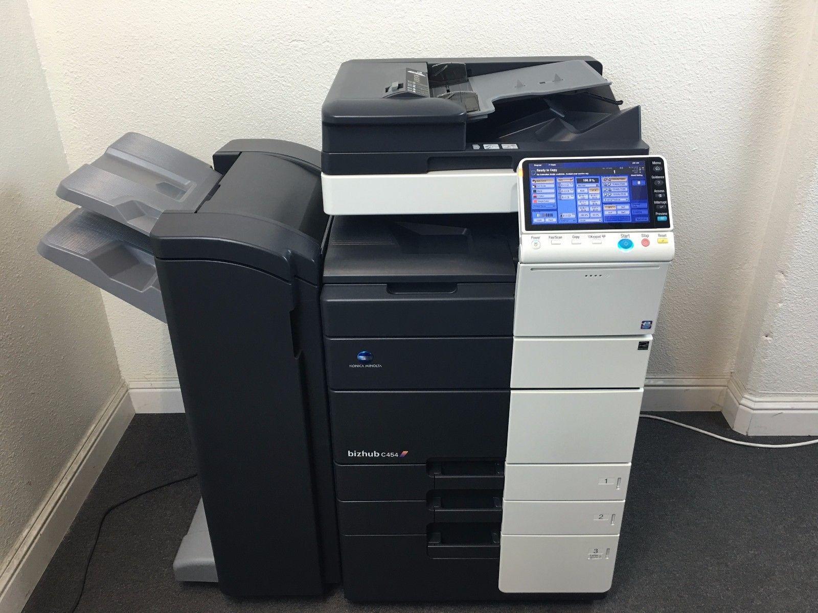 Konica Minolta Bizhub C454 Copier Printer Scanner with Fax LOW meter 162k total by Koinca Minolta