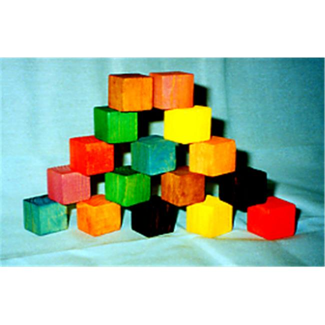 THE PUZZLE-MAN TOYS W-1008 Wooden Educational Baby Blocks - Large Set of 16