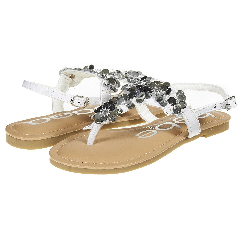 Kids Girls Summer Sandals Children Toddler Ruffle Slingbacks Flat Holiday Shoes