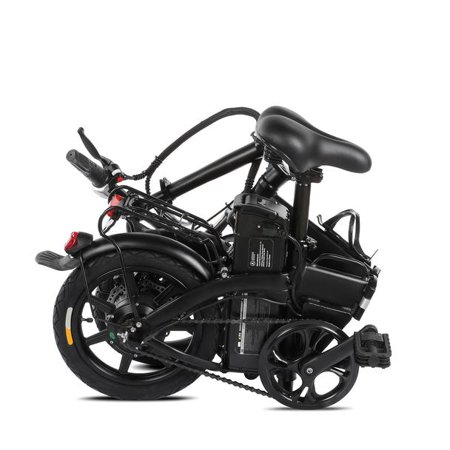 """XPRIT 14"""" Folding Electric Bicycle 250W City Coommuter, Aluminum Frame, LCD Display, 15mph Full Throttle/Pedal Assist up to 28 Miles per charge. - image 2 of 4"""