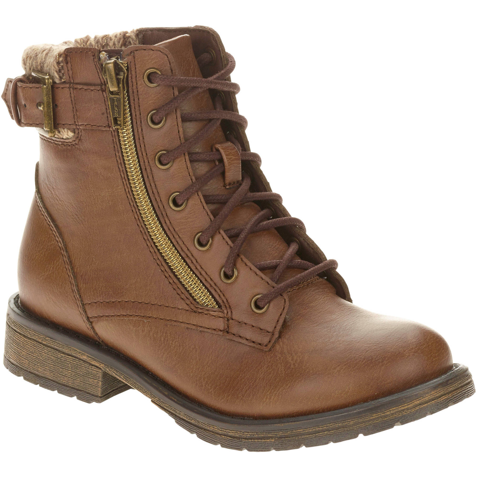 Faded Glory Girls' Lace Up Boot ONLINE ONLY