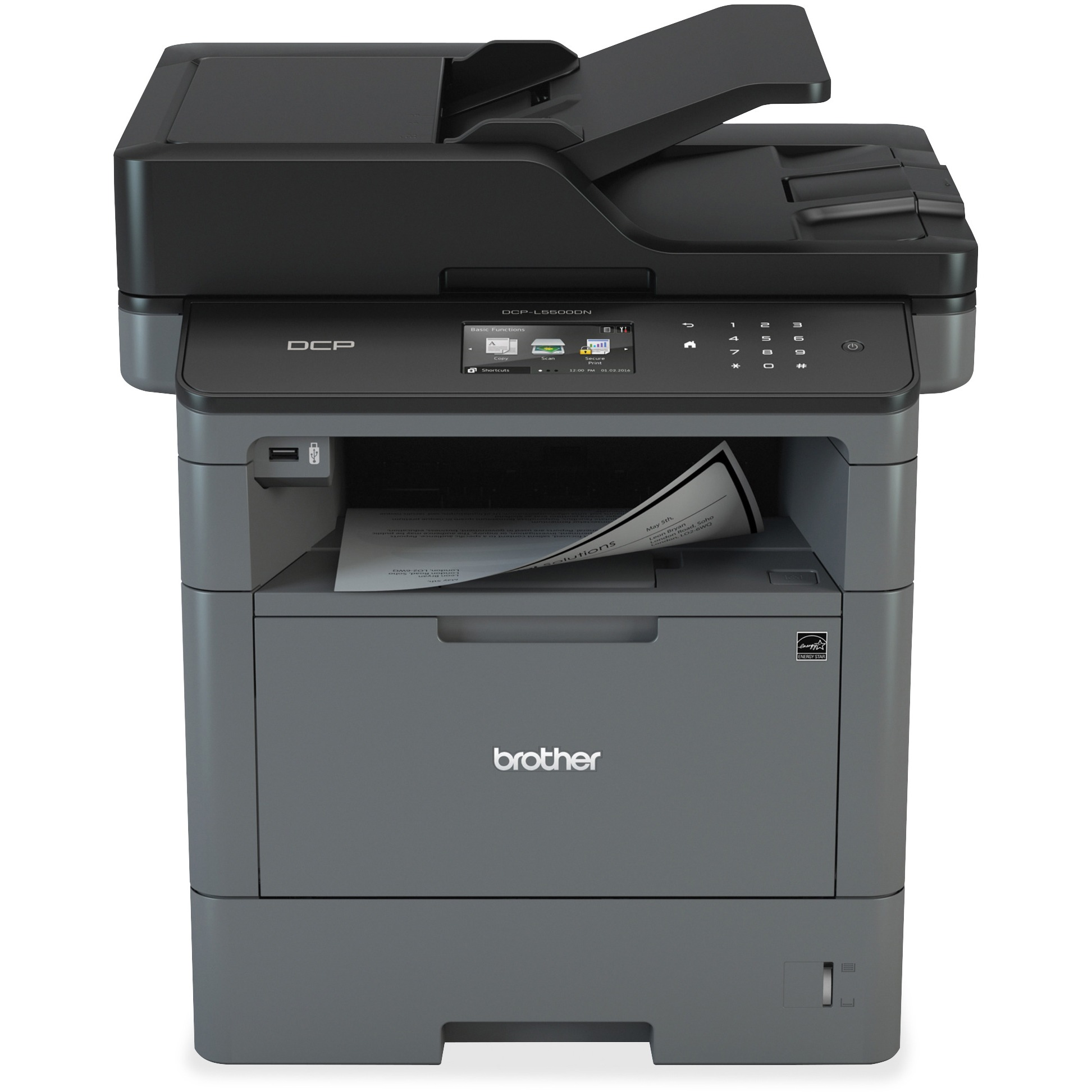Brother DCP-L5500DN Laser Multifunction Printer - Monochrome - Duplex