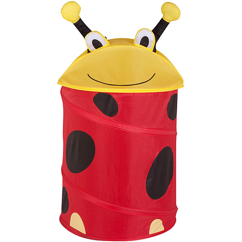 Honey Can Do Medium Collapsible Kids Pop-Up Hamper, Lady Bug