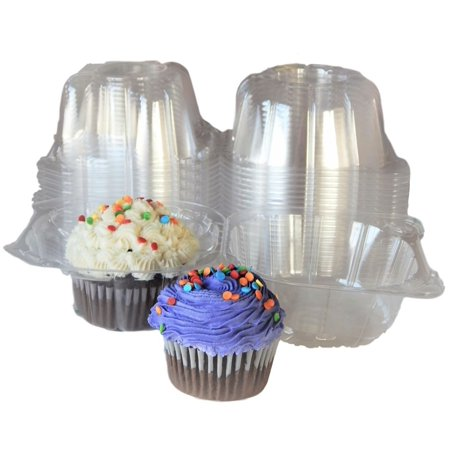 Individual Plastic Cupcake Boxes,100pcs Single Clear Plastic Cupcake Muffin Box Mini Cat Head Cupcake Container